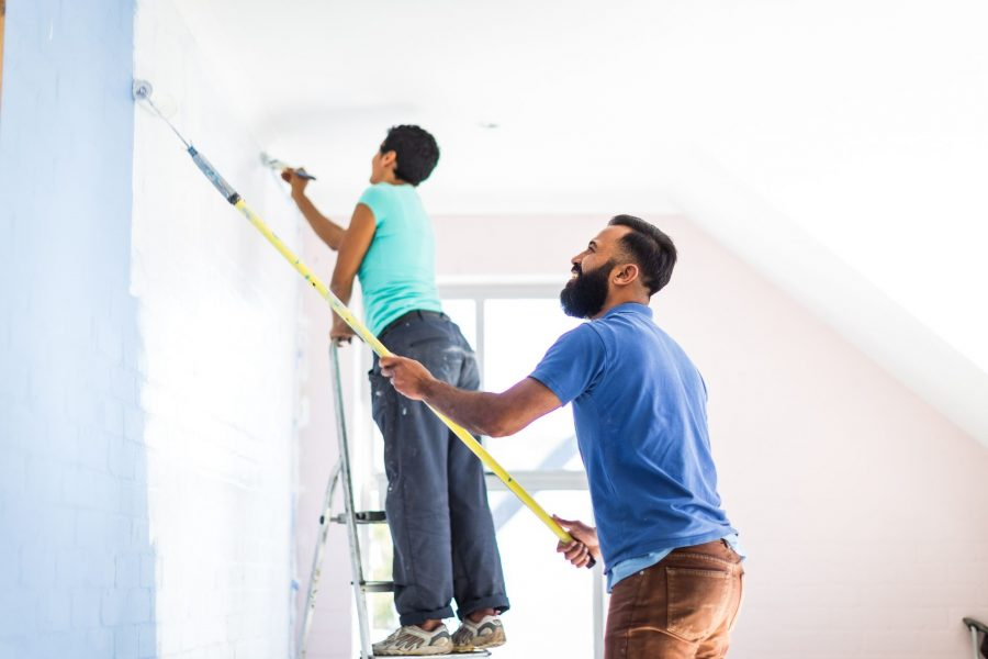 The right deals with commercial painter